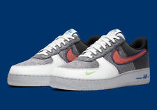 Nike Air Force 1 '07 Shoes White Sports Red Gray Green CU5625-122 Men's NEW