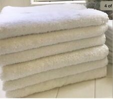 6 new white bath towels 24x50 10 # hotel spa resort Snow White Collection