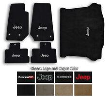 Jeep Cherokee Velourtex Carpet 5pc Floor Mat Set - Choose Color & Logo
