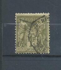 FRANCE   N°  72  TYPE  SAGE  1876   OBLITERE  PAS  D' AMINCI