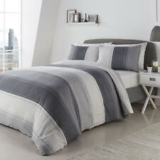 Betley Stripe Grey Duvet Set Choice of Sizes