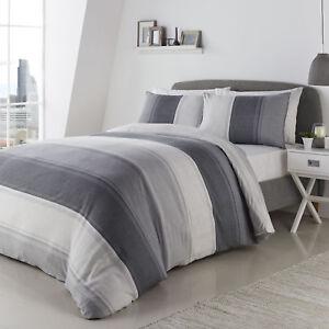 Betley Stripe Grey Duvet Set Choice of Sizes