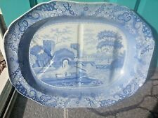 "Copeland Spode Castle Blue Italian ~ Turkey / Meat Serving Plate Charger~ 21"""
