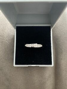 9ct White Gold 0.33ct Real Diamond Channel Set Eternity Ring Size N