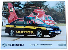 SUBARU Legacy Lifesaver For London Press Release Photograph