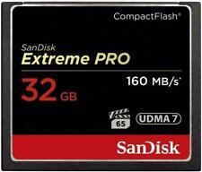 32GB SanDisk EXTREME PRO Compact Flash Card - CF - UDMA 7 - VPG 65 - 160 MB/s