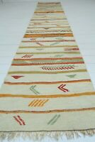 "Vintage Turkish Kilim Runner Rug Carpet Runner Hallway Rug LongCorridor 29""x142"""