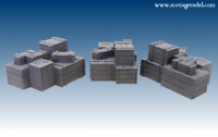Wooden crates 28mm Fantasy, historical and science fiction scenery