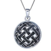 Sterling Silver Black Diamond Pendant (1/2 CT) With 18 Inch Chain