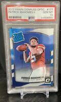 2017 Panini Donruss Optic #177 Patrick Mahomes II RC Rookie Gem Mint PSA 10