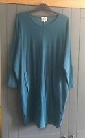 Masai Clothing Company Teal Green Tunic Style Dress With Pockets Size M