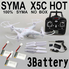 3 Batteries Syma X5C RC Quadcopter with HD Camera Drone 2.4Ghz 4CH 6-Axis