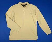 Timberland maglia polo uomo usato L manica lunga caldo cotone tuta felpa T5883