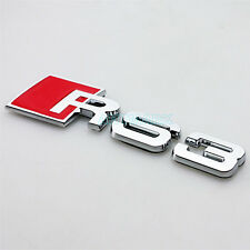 3D Metal Car Chrome RS 3 Badge Emblem Genuine OEM RS3 for Audi Coupe Quattro