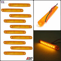 10X 12V 9 SMD LED FRONT AMBER ORANGE SIDE MARKER LIGHT LAMP TRUCK TRAILER LORRY