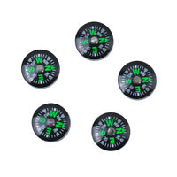 5X 15mm Pocket Survival Liquid Filled Button Compass for Camping Hiking
