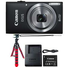 Canon IXUS 185 / ELPH 180 20MP Digital Camera Black and Flexible Tripod