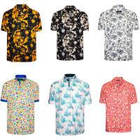 Men's Short Sleeve Shirt Men Italian Dress Casual Printed Summer Shirts Hawaiian
