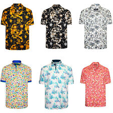 Men's Short Sleeve Shirt Men Italian Dress Casual Printed Summer Shirts Hawaiian