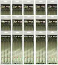 Lotto per OdL 90 X CAPELLI FERRETTINI 12lb BRAID Barbless taglia 6 8 10 PESCA CARPA piattaforme Ganci