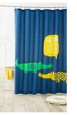 "New! Kids Pillowfort Alligator Fabric Shower Curtain 72"" X 72"""