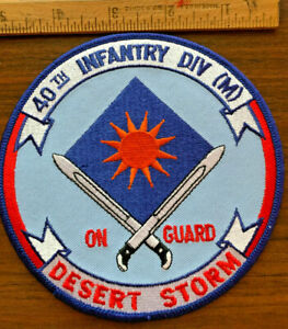 40th Infantry Division (M) On Guard Desert Storm Persian Gulf War 1991 Patch