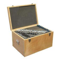 0-12 Inch x .0001 Inch Grad Outside Micrometer Set Solid Metal Frame Carbide Tip