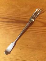 Antique J G Graves c1914 EPNS Silver Plated Pickle Fork 18.3cm Fiddleback