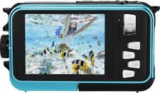 Agfaphoto WP8000 Kompaktkamera blau Wasserdicht 24MP Full HD Zoom 16-fach