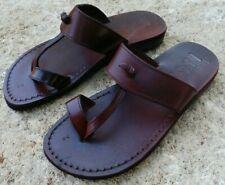 Wedge Toe Ring Leather Jesus Sandals Women Men Flip Flops Thongs Outdoor Flats