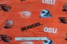 "Fabric Oregon State Beavers OSU Orange Black Team Fleece 44"" long x 60"" wide NEW"