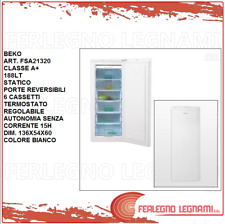 CONGELATORE VERTICALE CLASSE A+ 188LT STATICO BEKO FSA21320 BIANCO