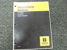 New Holland LS185B LS190B Skid Steer Loader Owner Operator Maintenance Manual