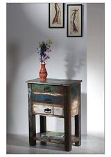 Telefontisch Riverboat, bunt lackiert, Tisch, Beistelltisch, Altholz