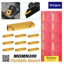 10Pcs MGMN200-G 2mm Carbide Insert Blade For MGEHR/MGIVR Grooviing Cut-Off Tool