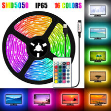 0.5-5M USB 5050 RGB LED Strip Lights Waterproof Flexible Light IR 24 Key Remote