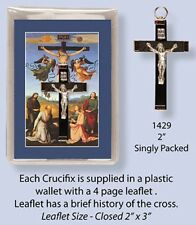 METAL NECKLACE CROSS / CRUCIFIX WITH LEAFLET STATUES CANDLES PICTURES LISTED 29