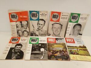 1959 Lot of (8) : GOLF DIGEST Magazine : ANNUAL + Bill Casper , Gene Littler ++