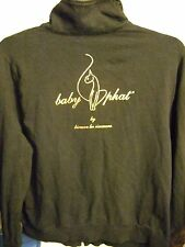 Baby Phat black long sleeve light zip front jacket, 3X