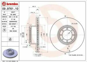 Pair Brake Discs Brembo Rear Fiat For Iveco Daily IV Ventilated From 2006->