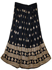 Indian Gypsy Skirt Kjol Jupe Ethnic Boho Hippie Retro Rayon Rock