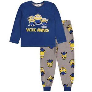 Minions Boys Fleece Warm Long Sleeved Pyjamas Set