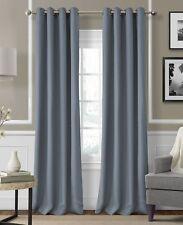 """Elrene Essex Grommet Linen 50"""" x 95"""" Window Panel Blue"""