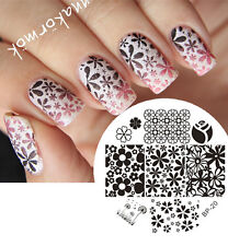 BORN PRETTY Nail Art Stamping Plate Mixed Flower Image Stamp Template #20
