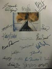 Titanic Signed Film Script X20 Leonardo DiCaprio Kate Winslet Katy Bates reprint