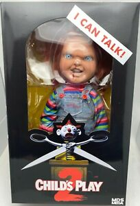 "Chucky Action Figure 15"" Childs Play Talking Menacing Chucky Doll Mezco"