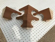 More details for 100 mm high mahogany georgian bracket feet,in kit form made to original pattern