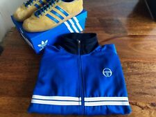 "Sergio Tacchini Dallas 24"" Pit to Pit Track Top Royal/Navy XL 80/90s Casual Dyer"