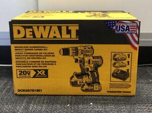 Dewalt DCK287D1M1 20V Hammerdrill/ Impact Driver Kit NEW
