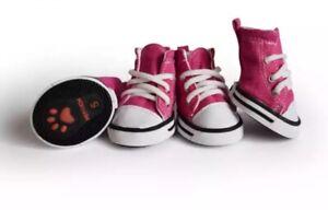Pet Dog Anti-slip Sports Denim Sneakers Shoes Puppy Boots 4pcs USA Supply Sale!!